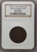 Colonials, 1783 COPPER Nova Constellatio Copper, Pointed Rays, Large US XF45NGC. NGC Census: (6/9). PCGS Population (15/13). (#804)...