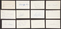 Baseball Collectibles:Others, 1923 Major League Baseball Debut Year Signed Index Cards andGovernment Postcards Lot of 89. ...
