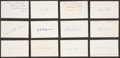 Baseball Collectibles:Others, 1920 Major League Baseball Debut Year Signed Index Cards andGovernment Postcards Lot of 65. ...