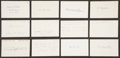 Baseball Collectibles:Others, 1919 Major League Baseball Debut Year Signed Index Cards andGovernment Postcards Lot of 41. ...