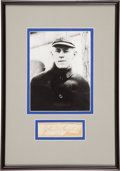 Baseball Collectibles:Others, Johnny Evers Signed Cut Signature Display....