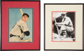 Baseball Collectibles:Others, Ted Williams and Bill Terry Signed Cut Signature Displays Lot of2....