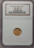 Mexico, Mexico: Republic gold Peso 1902Mom,...