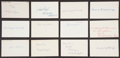 Baseball Collectibles:Others, 1921 Major League Baseball Debut Year Signed Index Cards andGovernment Postcards Lot of 60. ...