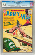 Silver Age (1956-1969):War, Our Army at War #128 (DC, 1963) CGC VF- 7.5 White pages....