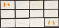 Baseball Collectibles:Others, 1925 Major League Baseball Debut Year Signed Index Cards andGovernment Postcards Lot of 71....