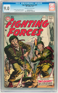 Our Fighting Forces #27 (DC, 1957) CGC VF/NM 9.0 Off-white to white pages