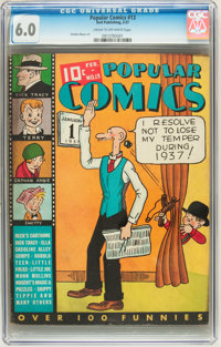 Popular Comics #13 (Dell, 1937) CGC FN 6.0 Cream to off-white pages