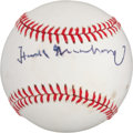 Autographs:Baseballs, 1970's Hank Greenberg Single Signed Baseball....