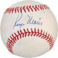 Autographs:Baseballs, 1970's Roger Maris Single Signed Baseball. ...