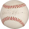 Autographs:Baseballs, Late 1930's Tris Speaker Single Signed Baseball....