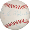 Autographs:Baseballs, 1956 Charles Robertson Single Signed Baseball....