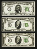 Small Size:Group Lots, Three 1928B Federal Reserve Notes.. ... (Total: 3 notes)