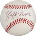 Autographs:Baseballs, 1960's Lefty Grove Single Signed Baseball. ...
