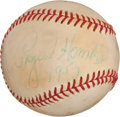 Autographs:Baseballs, 1957 Rogers Hornsby Single Signed Baseball....