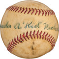 "Autographs:Baseballs, Circa 1950 Charles ""Kid"" Nichols Single Signed Baseball...."