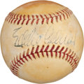 Autographs:Baseballs, Late 1940's Eddie Collins Single Signed Baseball....