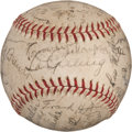 Autographs:Baseballs, 1935 New York Yankees Signed Baseball with Babe Ruth, Lou Gehrig....