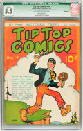 Platinum Age (1897-1937):Miscellaneous, Tip Top Comics #14 Incomplete (United Features Syndicate/Standard,1937) CGC Qualified FN- 5.5 Light tan to off-white pages....