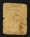 Colonial Notes:Continental Congress Issues, Continental Currency February 17, 1776 $1/2 Good.. ...