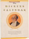 Books:Literature Pre-1900, [Charles Dickens]. The Dickens Calendar for 1945. Measures 7.5 x 10inches. Illustrated with color reproductions of scenes f...
