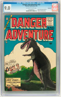 Golden Age (1938-1955):Science Fiction, Danger and Adventure #23 Bethlehem pedigree (Charlton, 1955) CGCVF/NM 9.0 Off-white to white pages....