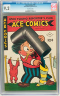 Golden Age (1938-1955):Miscellaneous, Ace Comics #97 (David McKay Publications, 1945) CGC NM- 9.2 Off-white pages....