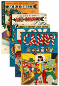 Golden Age (1938-1955):Miscellaneous, Comics - Assorted Golden Age Titles Group (Various, 1945-53) Condition: Average VF.... (Total: 4 Comic Books)