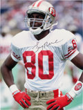 """Football Collectibles:Photos, Jerry Rice Single Signed HUGE 30"""" x 40"""" Oversized Photograph...."""