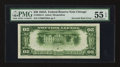 Error Notes:Inverted Reverses, Fr. 2055-G $20 1934A Federal Reserve Note. PMG About Uncirculated55 EPQ.. ...