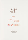 Books:Art & Architecture, [Exhibition Catalog]. Ilya and Kirill Zdanevich. 41° [41 Degrees]. San Francisco: Modernism Inc., [1...