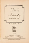 Books:Mystery & Detective Fiction, James M. Cain. Double Indemnity. Drawings by Wm. Frost. NewYork: Avon Book Company, [1943]. First separate edit...
