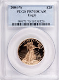 Modern Bullion Coins, 2004-W $25 Half-Ounce Gold Eagle PR70 Deep Cameo PCGS. PCGSPopulation (116). NGC Census: (602). Numismedia Wsl. Price for...