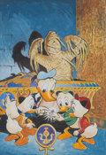 Original Comic Art:Miscellaneous, Carl Barks Carl Barks Library Volume I Cover PreliminaryOriginal Art (Another Rainbow, 1984)....