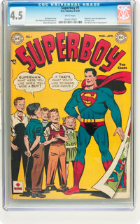 Superboy #1 (DC, 1949) CGC VG+ 4.5 White pages