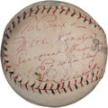 Autographs:Baseballs, Late 1930's Lou Gehrig Single Signed Baseball....