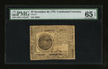 Colonial Notes:Continental Congress Issues, Continental Currency November 29, 1775 $7 PMG Gem Uncirculated 65EPQ.. ...