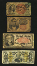 Fractional Currency:Fifth Issue, Four Problem Fractionals.. ... (Total: 4 notes)