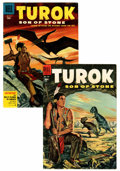 Golden Age (1938-1955):Miscellaneous, Four Color #596 and 656 Turok Group (Dell, 1954-55) Condition: Average FN-.... (Total: 2 Comic Books)