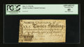 Colonial Notes:North Carolina, North Carolina March 9, 1754 20s PCGS Apparent Extremely Fine 40.....