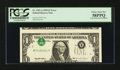 Error Notes:Inverted Third Printings, Fr. 1921-A $1 1995 Federal Reserve Note. PCGS Choice About New58PPQ.. ...