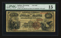 National Bank Notes:Wyoming, Buffalo, WY - $10 1882 Brown Back Fr. 484 The First NB Ch. # 3299....