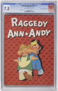"Golden Age (1938-1955):Cartoon Character, Raggedy Ann and Andy #1 Davis Crippen (""D"" Copy) pedigree (Dell,1946) CGC VF- 7.5 Cream to off-white pages...."