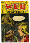 Golden Age (1938-1955):Horror, Web of Mystery #15 (Ace, 1952) Condition: FN....