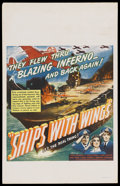 "Movie Posters:War, Ships with Wings (United Artists, 1942). Window Card (14"" X 22"").War. ..."