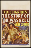 "Movie Posters:War, The Story of Dr. Wassell (Paramount, 1944). Window Card (14"" X22""). War. ..."