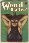 Pulps:Horror, Weird Tales (Pulp) October, 1933 (Popular Fiction, 1933) Condition:FN-. This issue features a classic bat-woman cover by Ma...