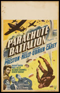 "Movie Posters:War, Parachute Battalion (RKO, 1941). Window Card (14"" X 22""). War. ..."