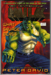 The Incredible Hulk: What Savage Beast (Putnam). Novel by Peter David, with illustrations by George Perez. Still in orig...