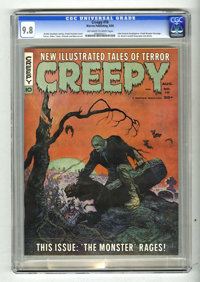 Creepy #10 (Warren, 1966) CGC NM/MT 9.8 Off-white to white pages. Frank Frazetta cover. Steve Ditko, Gene Colan, Gray Mo...